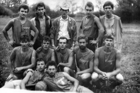 На археологической практике, исторический факультет УдГУ, 1989 г.