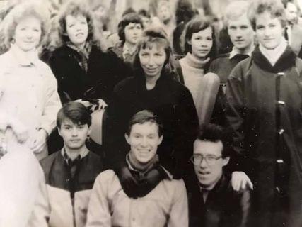 на практике в пионерлагере Юбилейный, 1987 г.